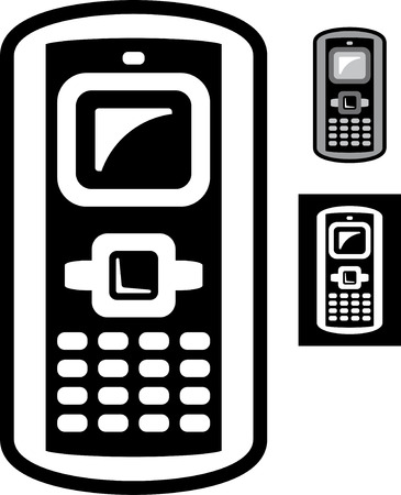 Old mobile phone  Vector icon