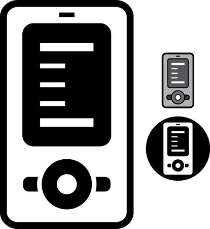 Mobile phone device music mp3 player  Vector icon