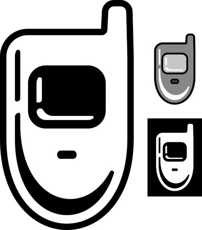 Retro mobile phone  Vector icon