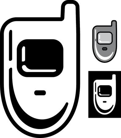 Retro mobile phone  Vector icon