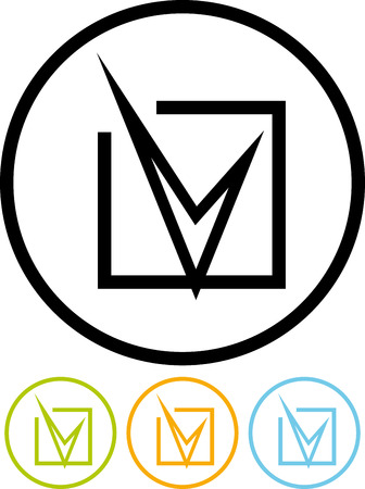 Check tick box checkbox mark vector icon