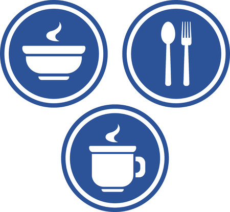 Food and drink signs - Vector icons