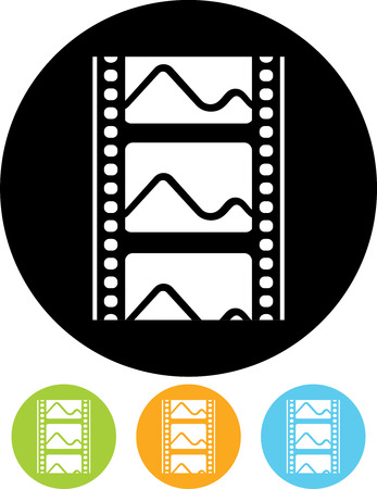 Photo or movie film frames icon Çizim