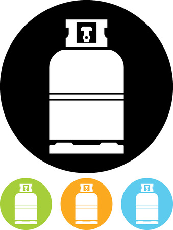 Gas bottle vector icon Vettoriali