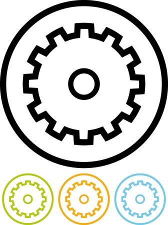 Gear wheel - Vector icon isolated on white 일러스트