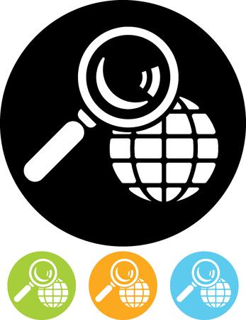Worldwide search location Stock Illustratie