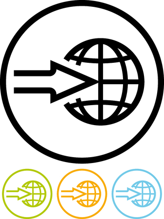 Worldwide shipping delivery - Vector icon isolated on white Ilustração