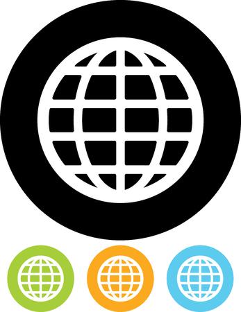 Earth globe logo