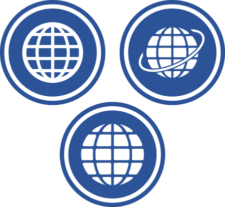 Earth globes travel the world - Vector icons Ilustrace