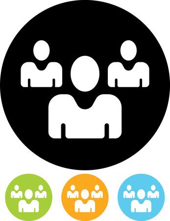 Group of people. Business team icon Ilustração