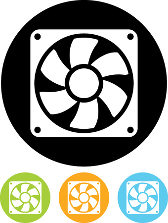 Exhaust fan vector icon