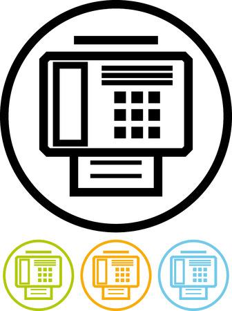 Vector fax machine illustration Illustration