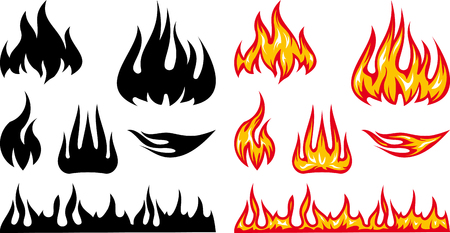 Vector burning fire flames blaze illustration Illustration