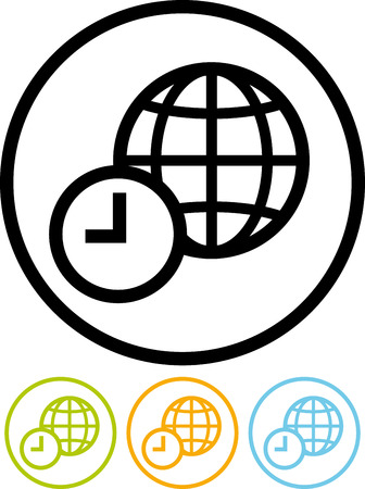 World time - Vector icon isolated on white