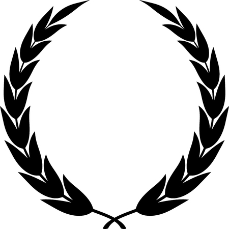 Laurel wreath clipart drawing isolated Stock Illustratie