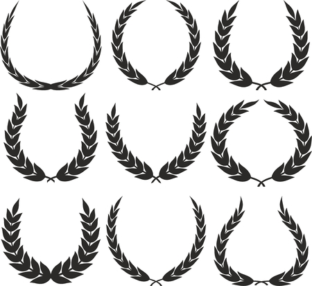 Laurel Wreaths Vector 矢量图像