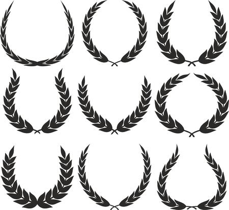 Laurel Wreaths Vector Vectores