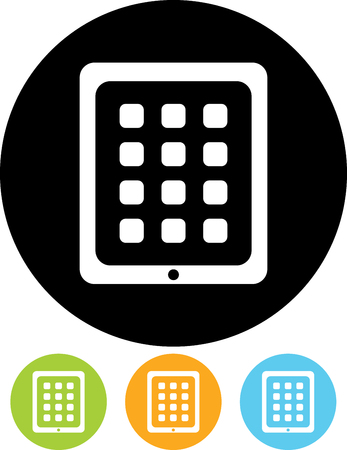 Tablet computer device vector icon