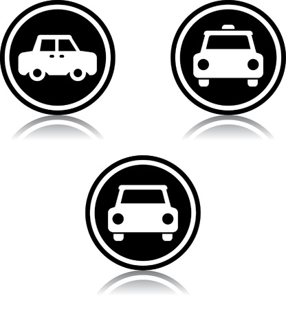 Taxi cab car sign - Vector icon isolated Illustration