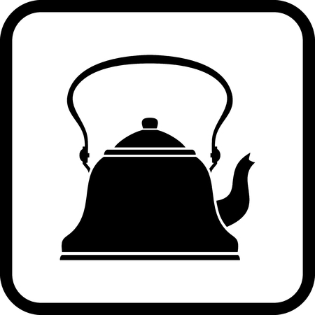 Teapot - Vector icon isolated on white
