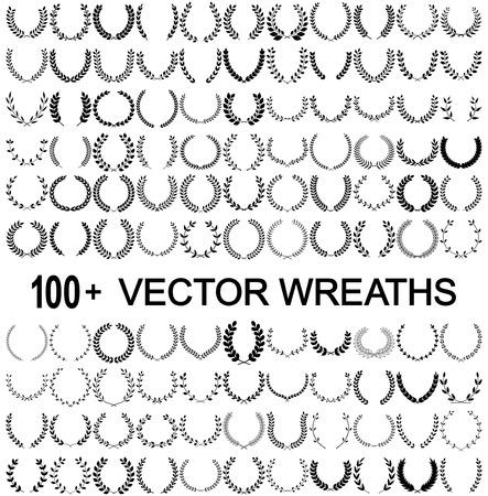 Lorbeerkränze Vektor Vektorgrafik