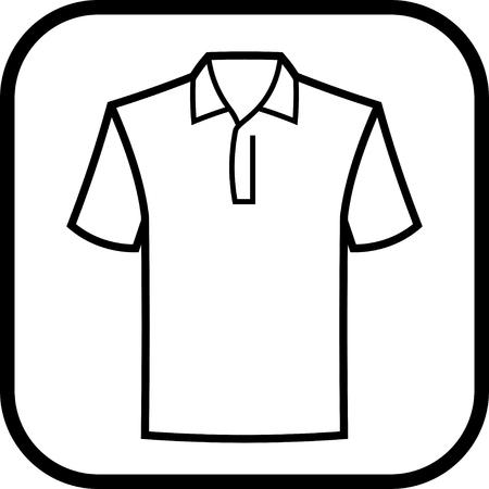 Polo Camisa del icono del vector