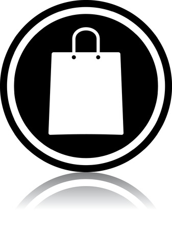 Shopping paper bag - Vector illustration isolated