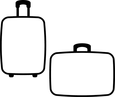 짐 수하물 여행 가방 벡터 로그인 일러스트