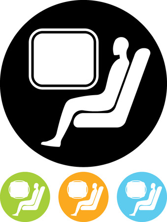 Passenger. Man at train - Vector icon isolated