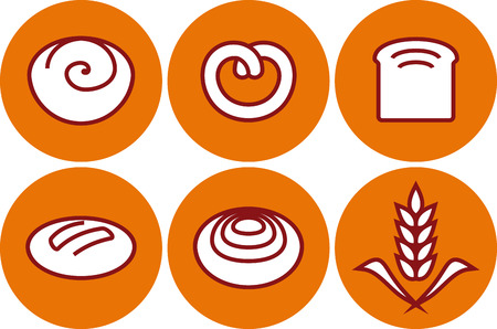 Vector bread pastry illustrations Ilustracja