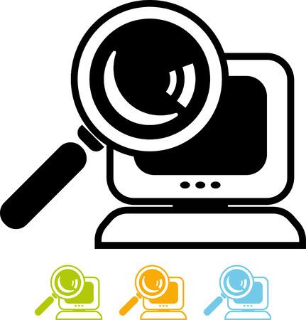 Search file pc vector icon Stock Illustratie