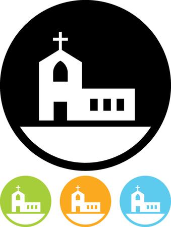 Chiesa - icona di vettore isolata