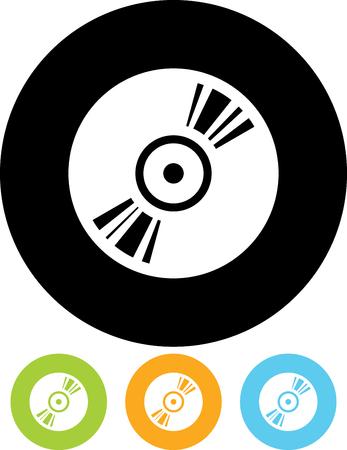 CD disk vector icon