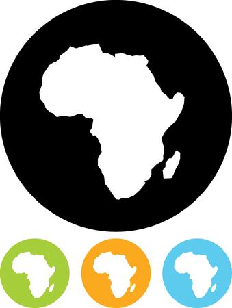 De Kaart van Afrika - geïsoleerd Vector pictogram Vector Illustratie