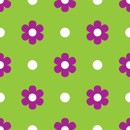 春の花。シームレス花柄  イラスト・ベクター素材