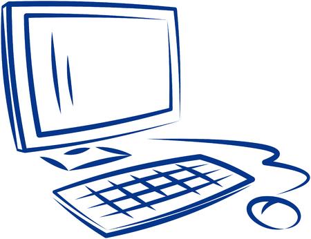 Computer en muis Vector Illustratie