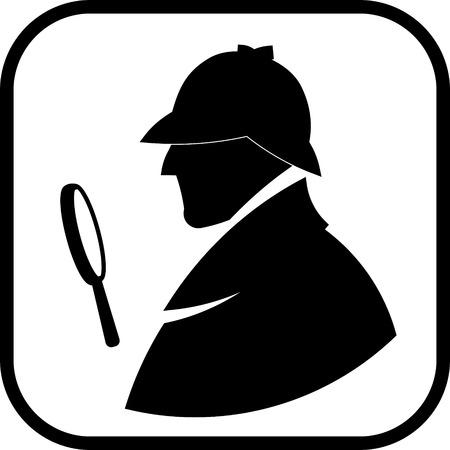 Detektiv Sherlock Holmes Vektor Profilsymbol