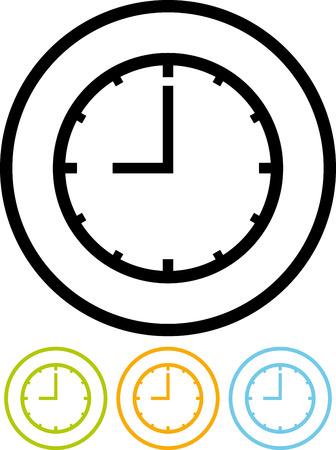 Vector clock icon Иллюстрация