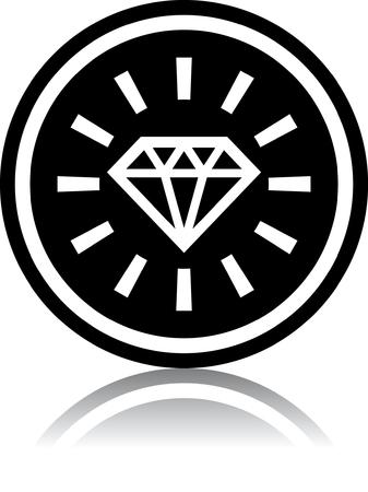Diamante - illustrazione vettoriale isolato su bianco
