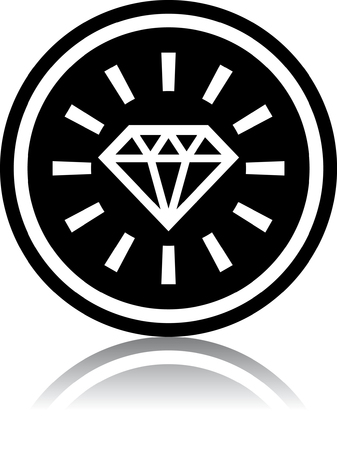 Diamond - Vektor-Illustration isoliert auf weiß