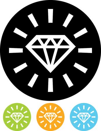 Diamond shine - Vector illustration isolated on white Ilustração