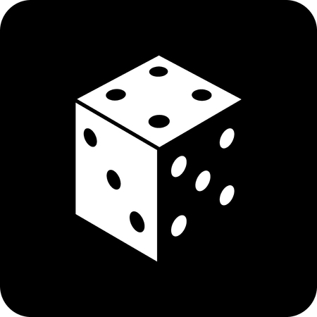 Vector icon - Gambling Dice Çizim