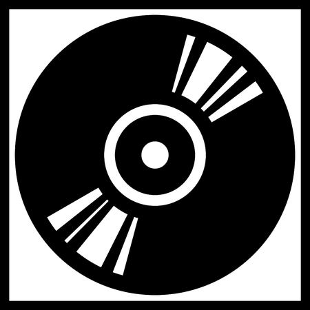 Vector vinyl disk or cd record illustration isolated Vettoriali