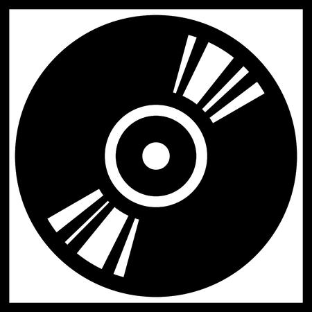 Wektor winylu lub dysku cd ilustracji rekord izolowane