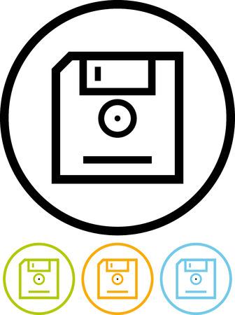 Vector floppy disk diskette icon Illustration