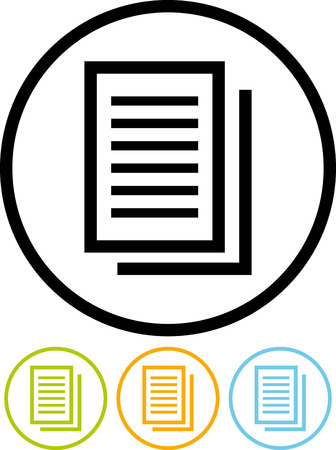 Document pages with text - Vector illustration isolated Ilustração