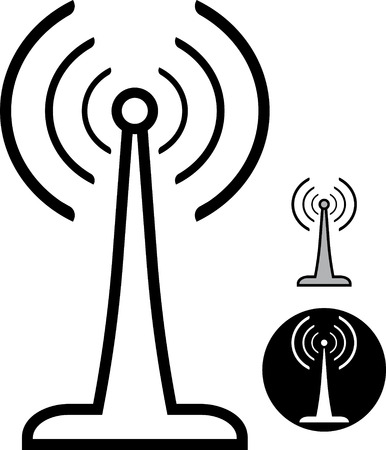 Vector radio antenna illustration