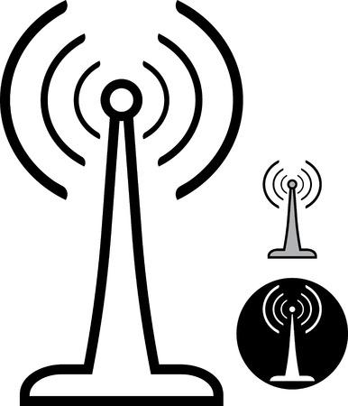 Vector radioantenne illustratie