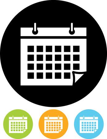 Kalendarz Harmonogram organizator porządku obrad - Wektor