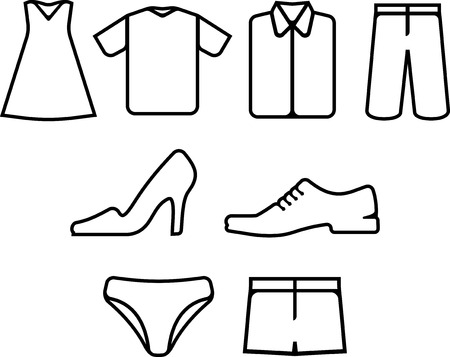 Vector clothes and shoes.